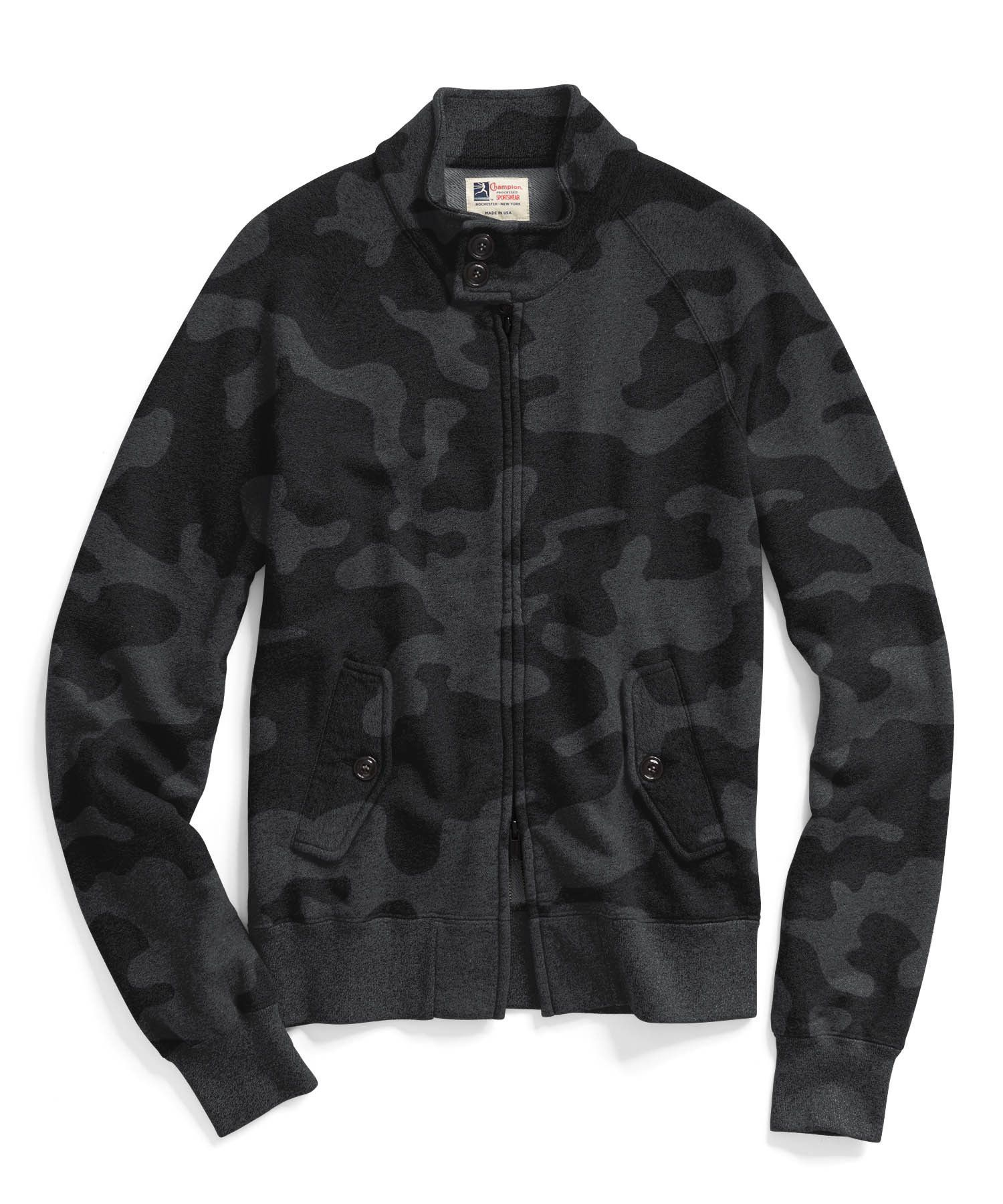 Golf Jacket in Black Camo