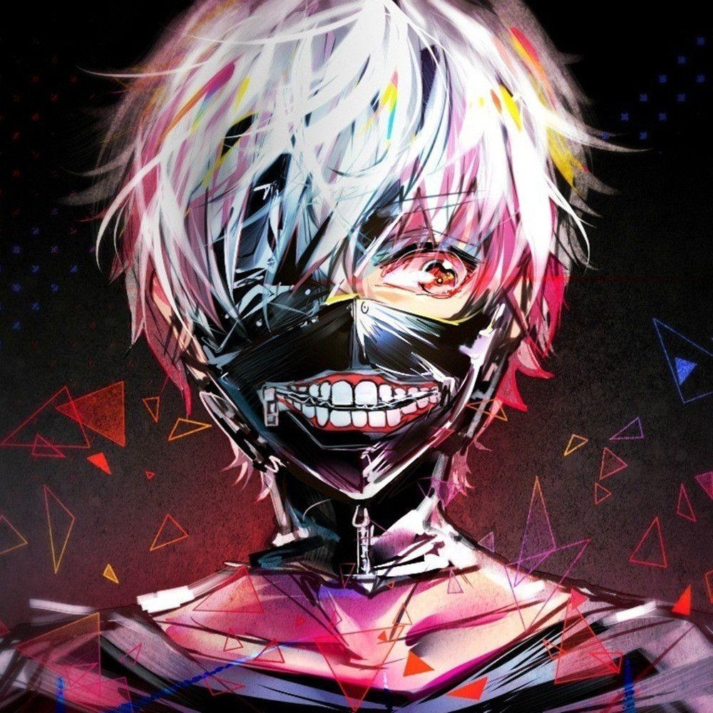 Halloween Anime Dress Cosplay Tokyo Ghoul Kaneki Ken Mask