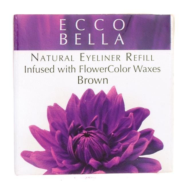 Ecco Bella Natural Eyeliner Refill Infused with Flowercolor - Brown | 0.12 oz Unit
