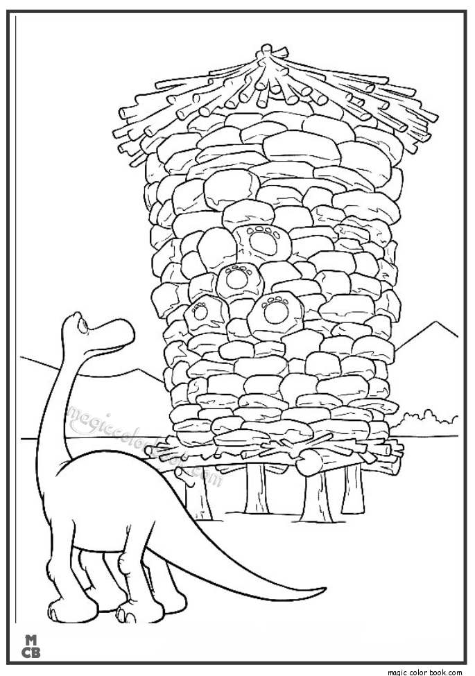 The Good Dinosaur Online Coloring Pages Printable Book For Kids 8