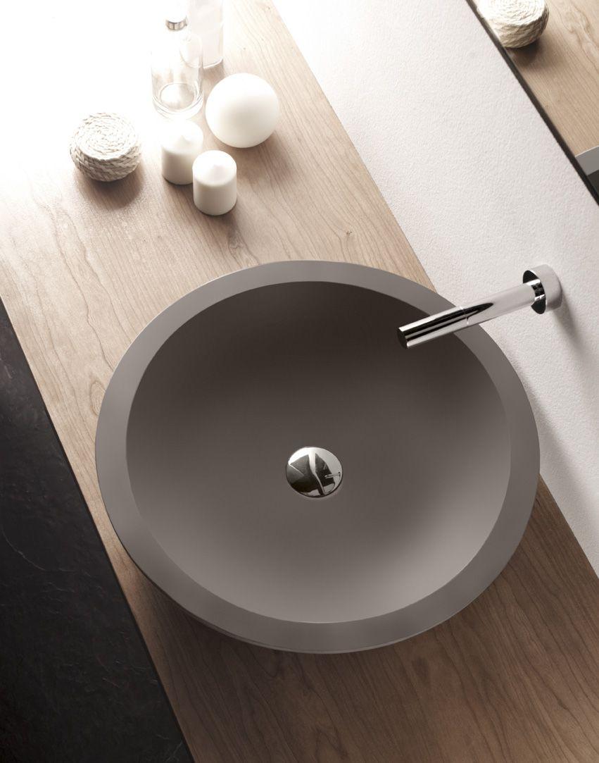 Ampuero lavabo de cemento, Cement & Terrazzo, Natural Series by ...