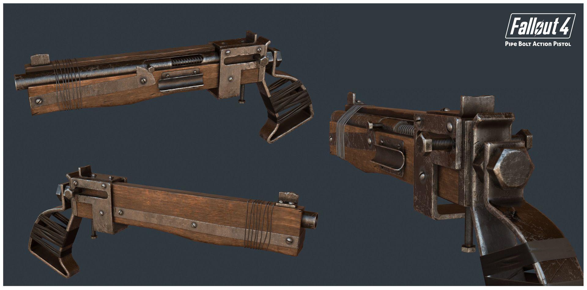 ArtStation - Pipe Bolt Action Pistol - Fallout 4, Vijay Kumar