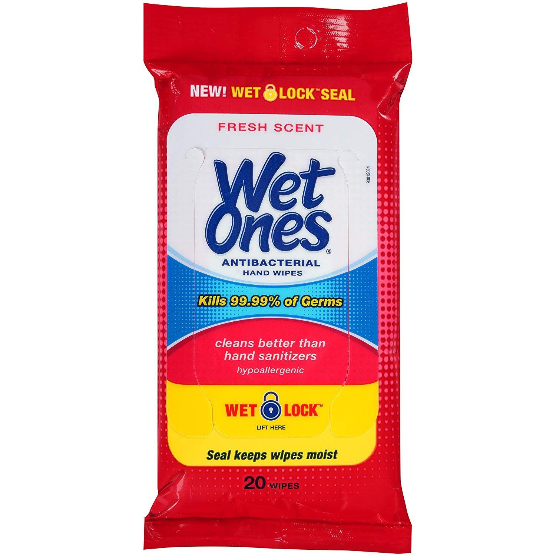 Wet Ones Antibacterial Hand Wipes Hypoallergenic In 2020