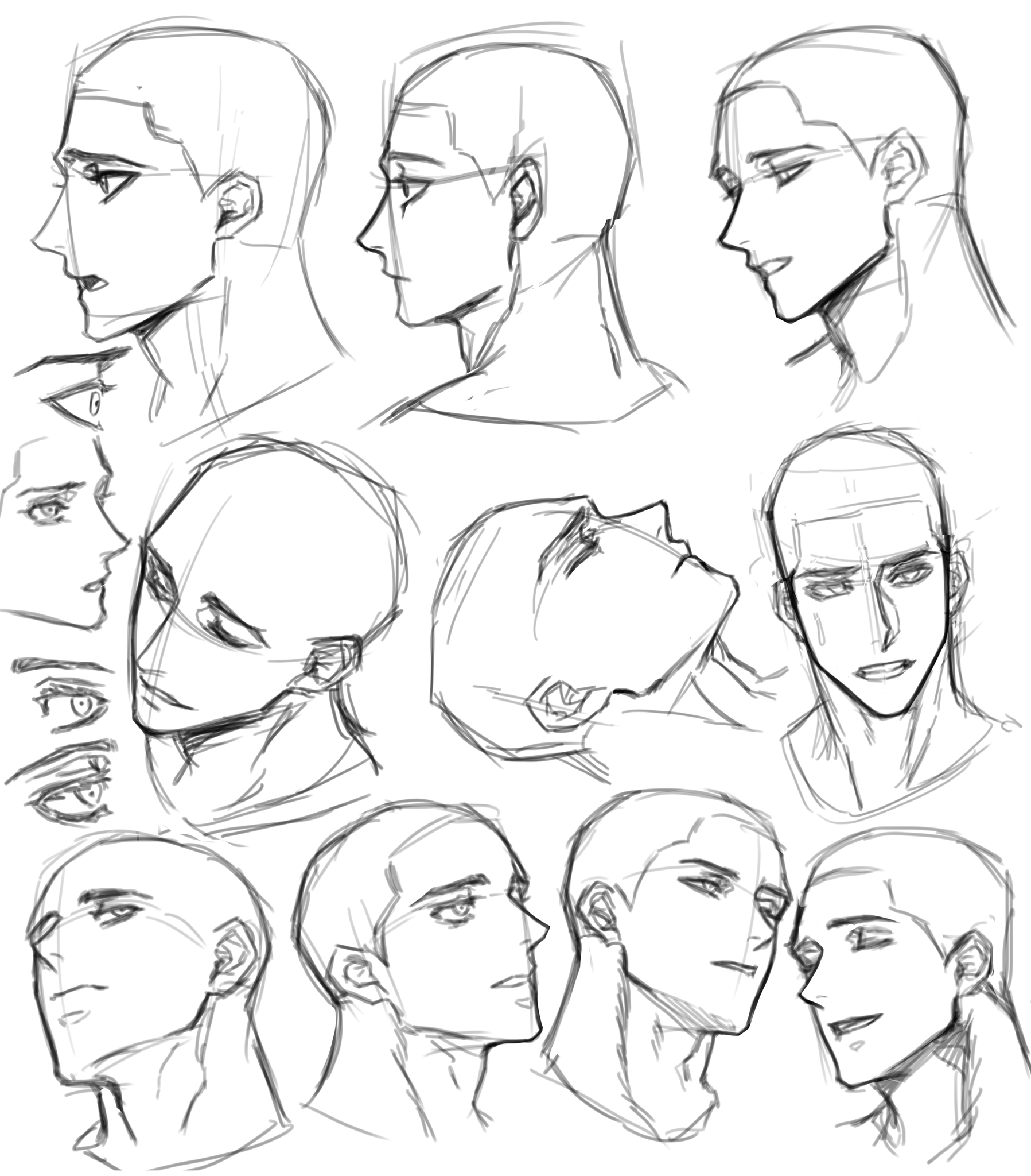 Pin By Camille Yu On M Drawing Expressions In 2020 Face Drawing Reference Male Face Drawing Anime Poses Reference