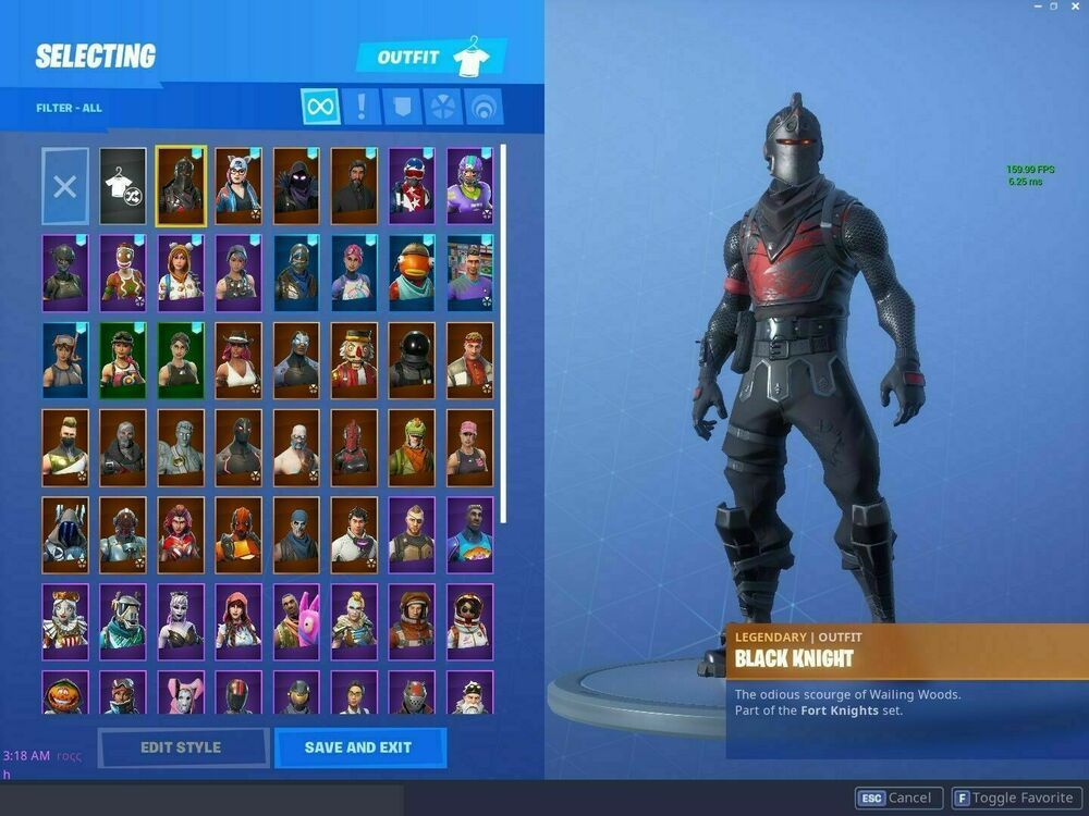 Fortnite Account Black Knight Season 1 Stacked 65 Skins Full