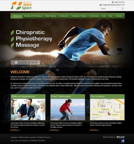 Custom Website Design For A Sporttreatment By Websitedesignandmore 1500 00 Custom Website Design Custom Website Wordpress Web Design