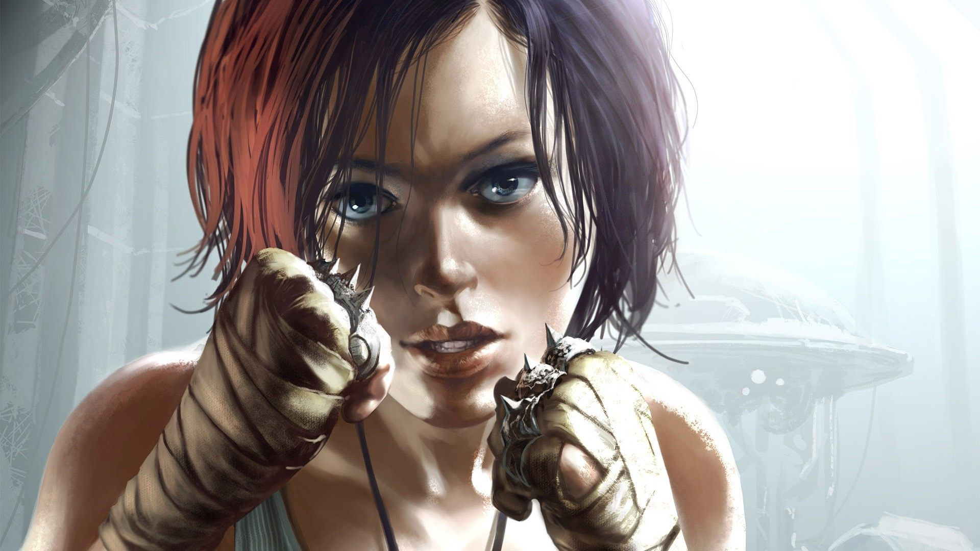 artwork, #fantasy art, #Remember Me, #fantasy girl, #boxing, #Tomasz  Jedruszek, #painting, #bare shoulders, #fan art, #di… | Fantasy girl, Boxing  girl, Fantasy art