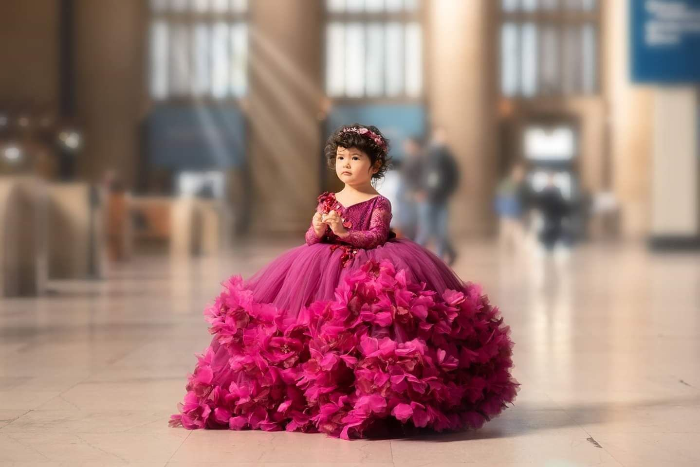 Callista Gown In Wine And Magenta By Anna Triant Couture In 2020 Little Girl Gowns Gowns For Girls Kids Designer Dresses