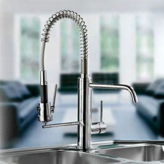 Mico 7714 Single Handle Kitchen Faucet With Metal Lever Handle And Pull Out  Spray From The Pro Chef Collection