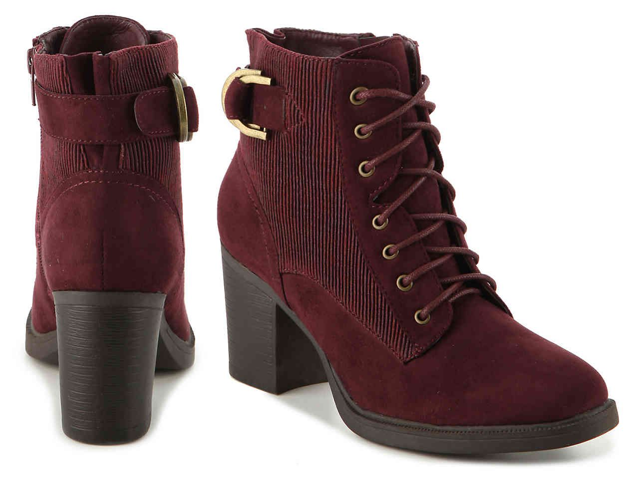 6d97ca31169 GC Shoes Asia Bootie in Burgundy Women's Shoes | DSW | Boots | Shoes ...