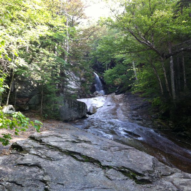 Bridal Veil Falls in New Hampshire