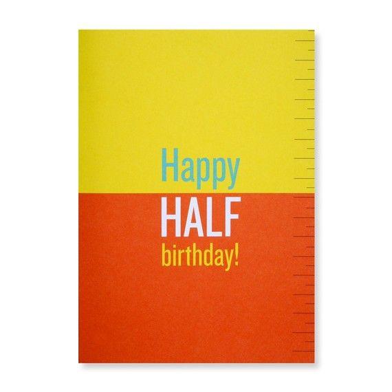 Happy Half Birthday Greeting Card Etsy Birthday Greeting Cards Birthday Greetings Happy Half Birthday