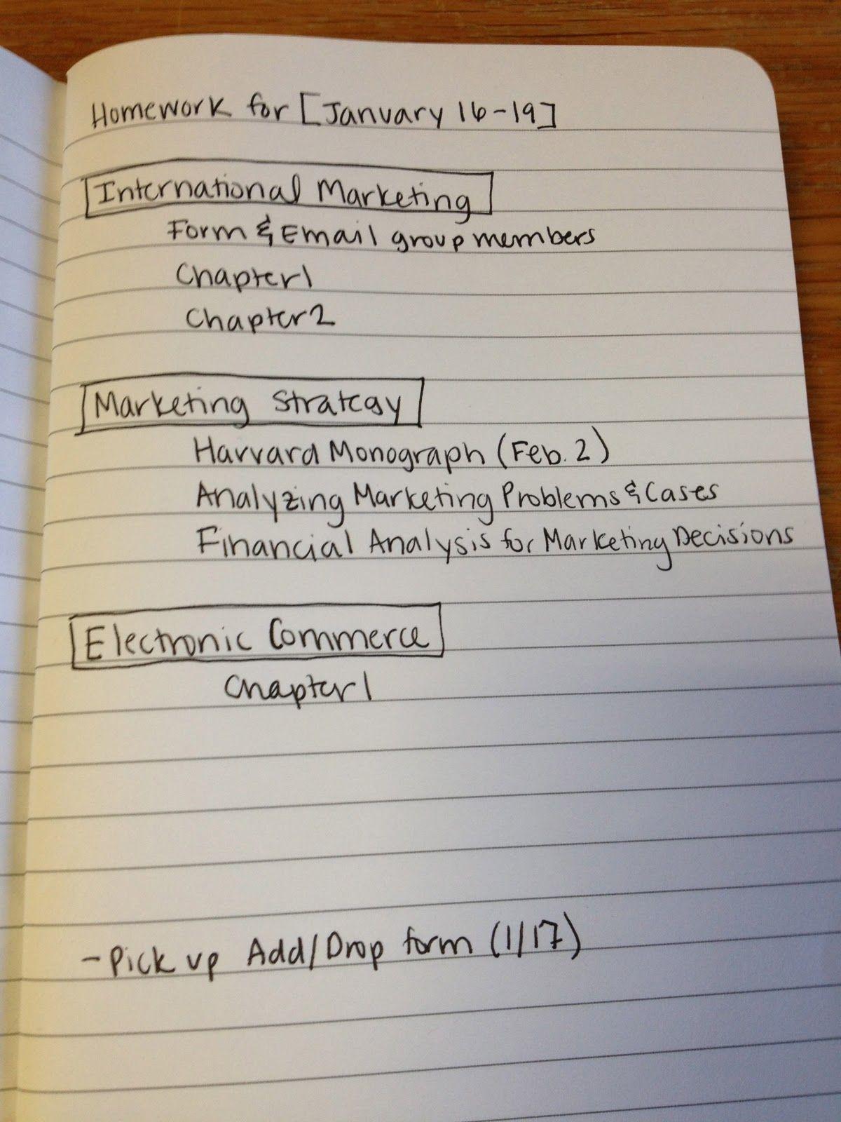 University writing homework