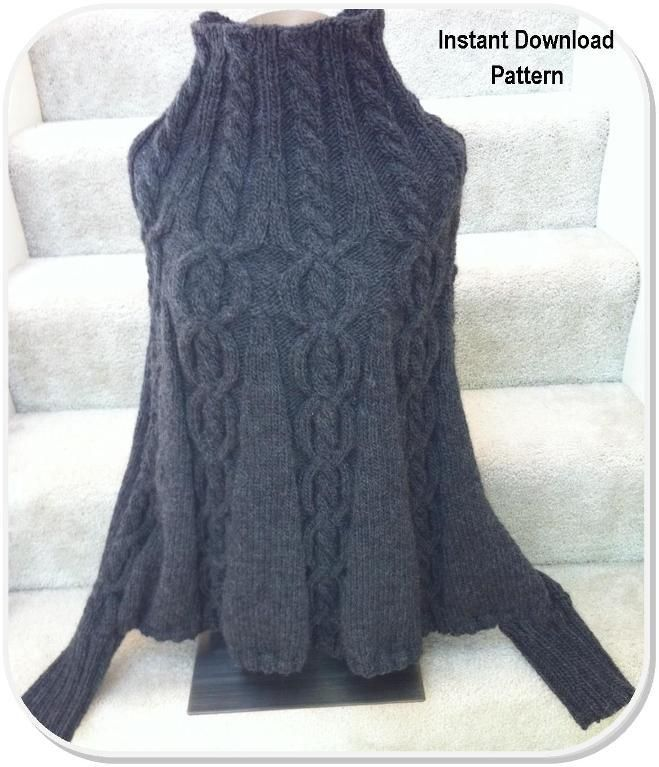 (6) Name: 'Knitting : Poncho Cables and Cuffs | Poncho ...