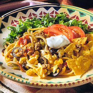 Taco Spaghetti - Recipe.com