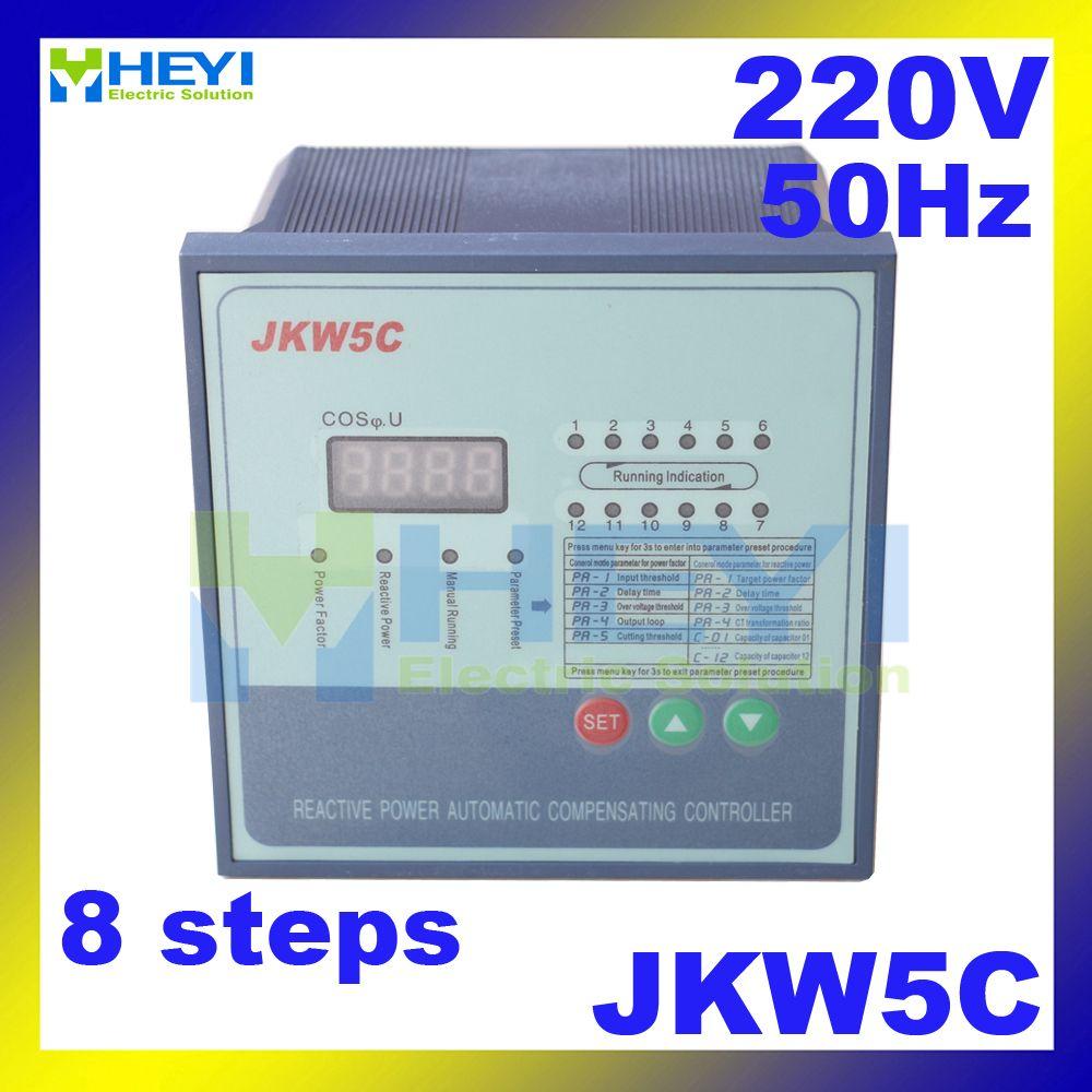 Jkw5c Jkl2c Power Factor Correction Equipment 220v 50hz 8steps Reactive Power Automatic Compensation Controller Power Compensation Equipment
