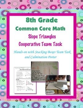 8th Grade Common Core Math {Team Task} ~ - Slope Triangles