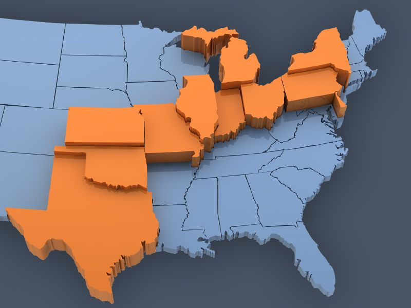 3D United States Map 3D United States