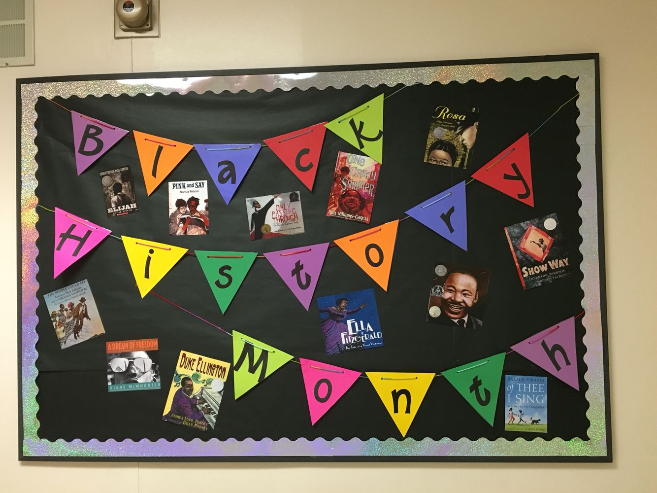 Black History Month Elementary Library Bulletin Board