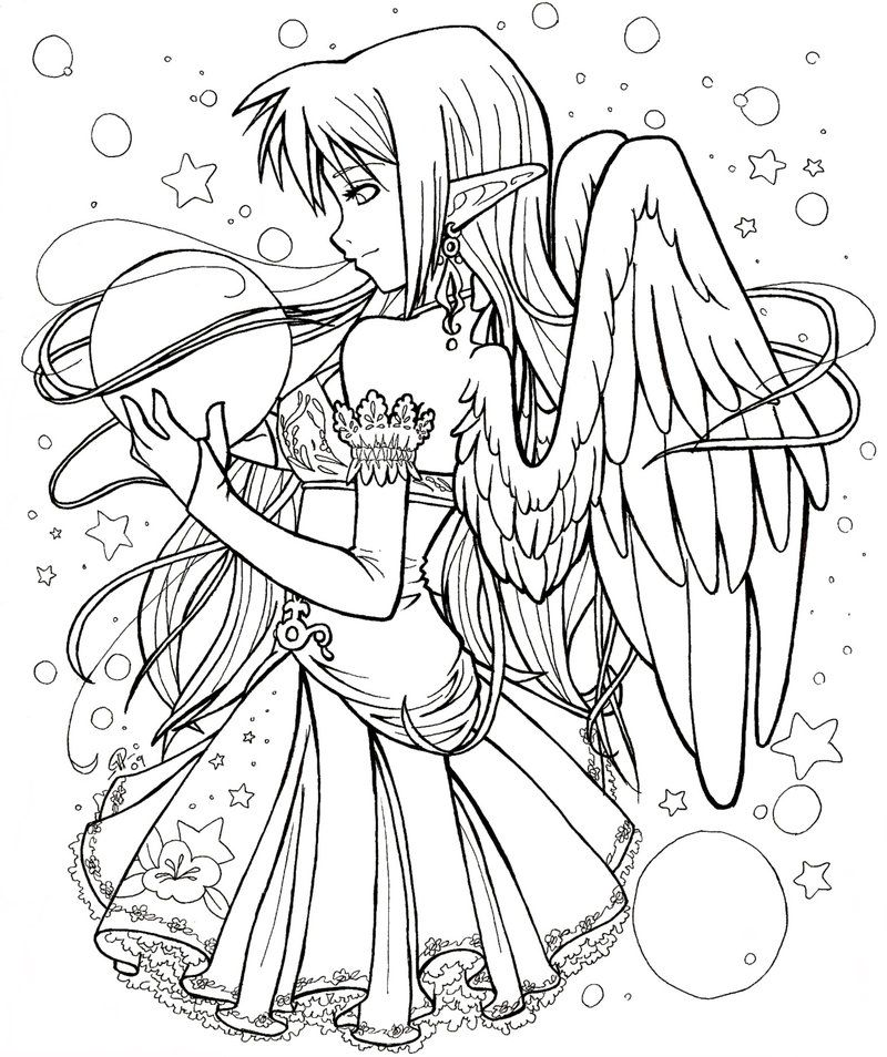 Anime Printable Sheets Fairy Coloring Pages Chibi Coloring Pages Animal Coloring Pages