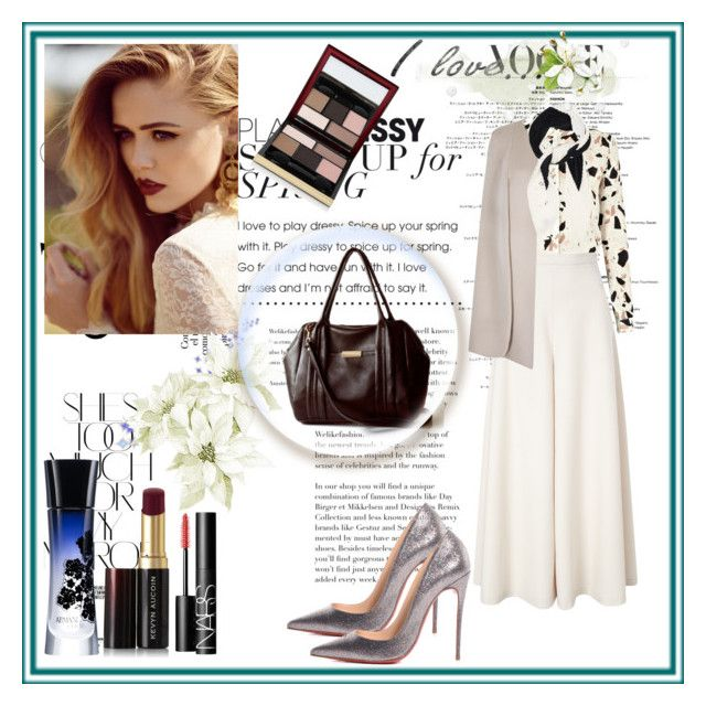 """Opelle- Bag"" by zijadaahmetovic ❤ liked on Polyvore featuring Rika, SECOND FEMALE, Temperley London, Christian Louboutin, Valentino, Giorgio Armani, Kevyn Aucoin, NARS Cosmetics, women's clothing and women's fashion"