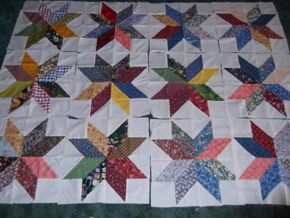 Charm Pack Star..makes a 16 inch block - via @Craftsy Free quilt ... : charm quilt patterns easy - Adamdwight.com