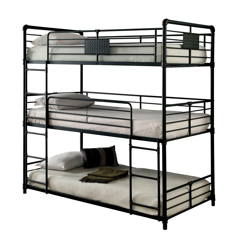 Furniture of America Gorz Industrial Black Full Metal