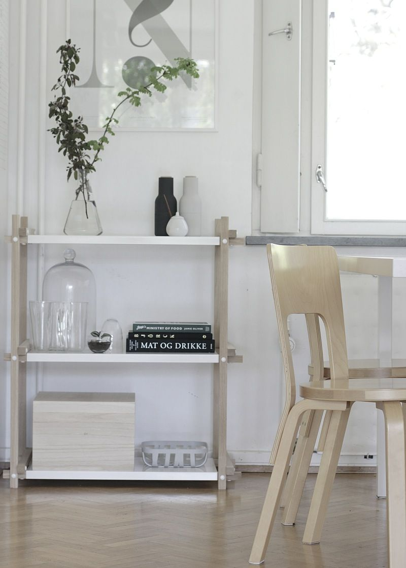 Love the white shelving from Hay
