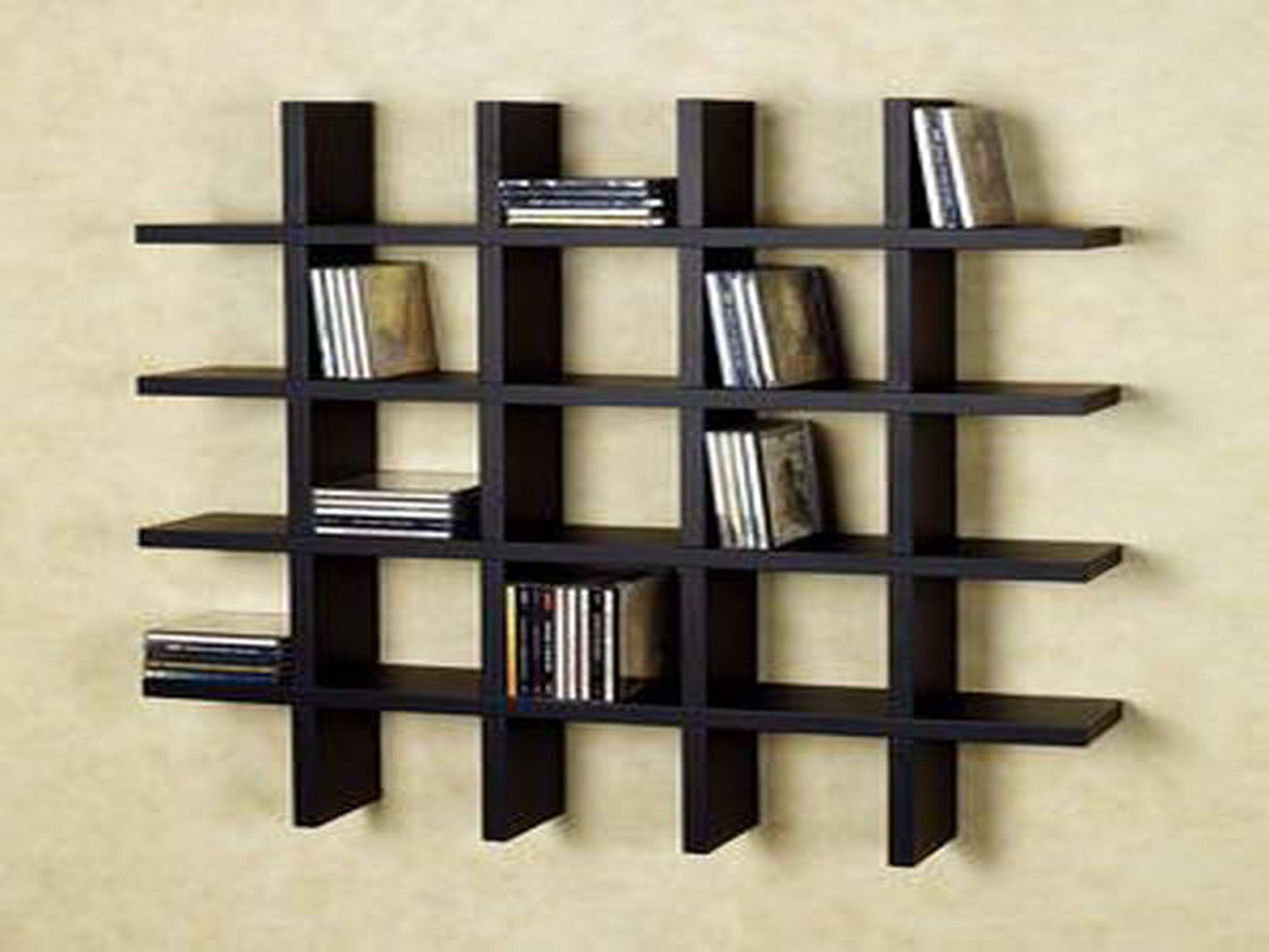 Awesome Bookcase Decorating Ideas Wall Mounted Bookshelves