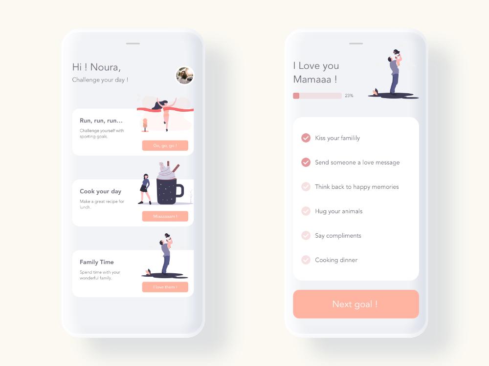 Challenge Mobile App - UI/UX Design