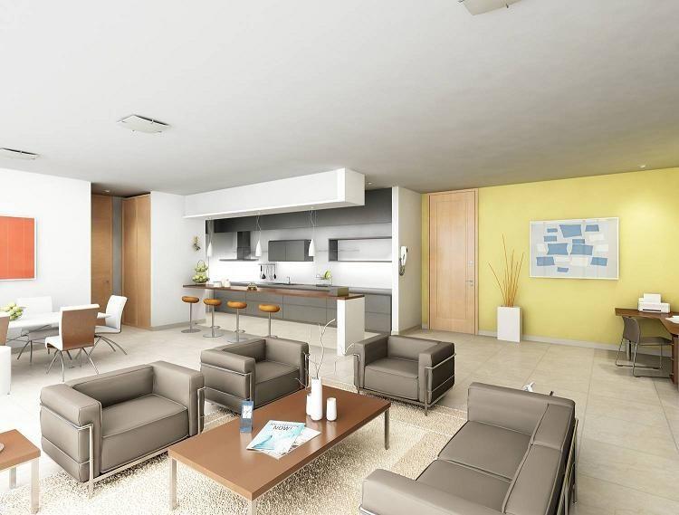 Diseños de Sala Comedor y Cocina en 2018 | Casa | Pinterest | Room ...