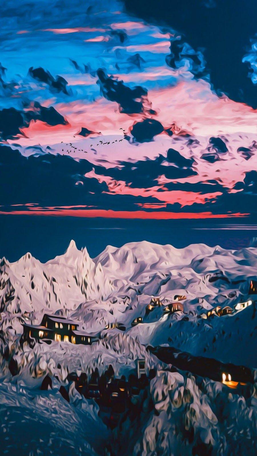 Trippy Apple Wallpaper Mountain