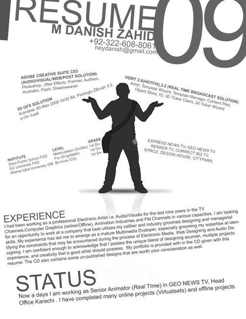 30 Creative Resume (CV) Designs for Inspiration Resume cv, Cv