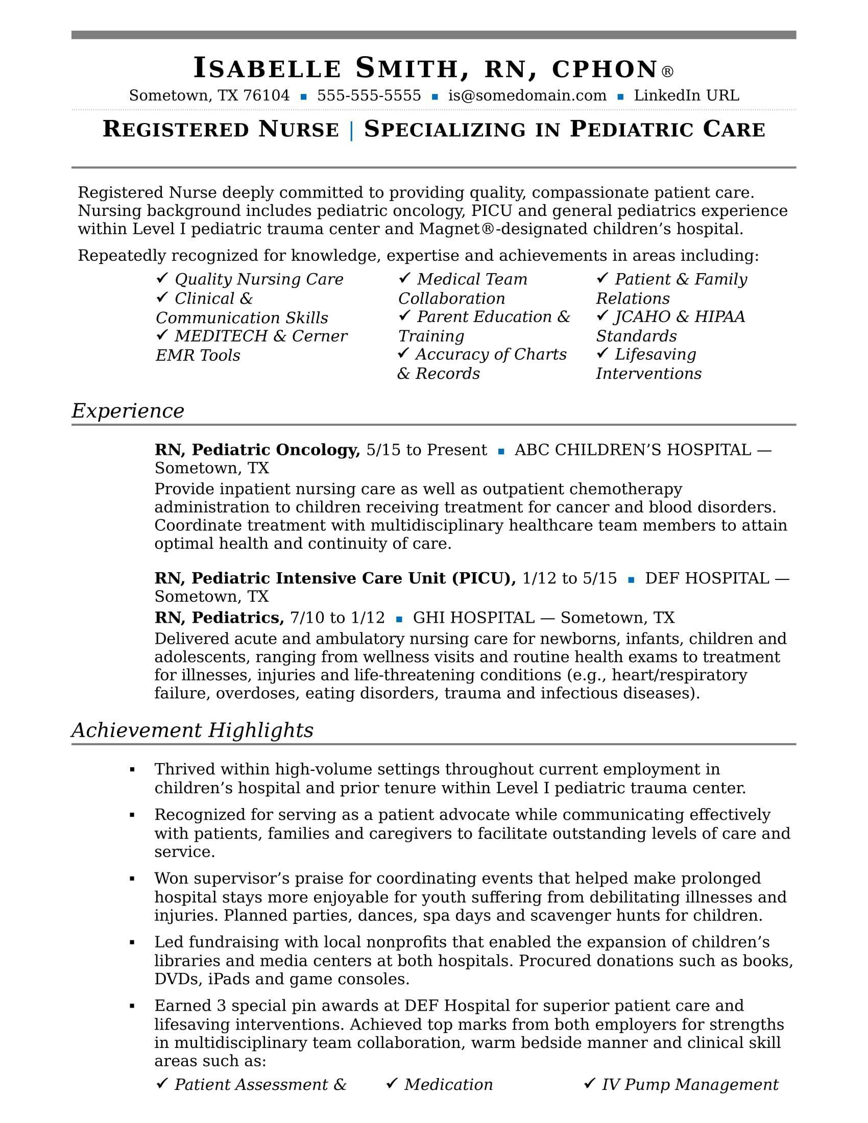 Resume Template for Nursing Very Good Nurse Resume Sample
