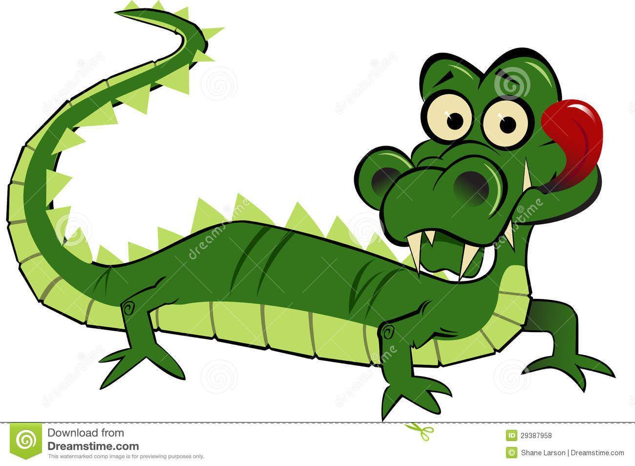Swamp Alligator Cartoon Clipart Free Clip Art Images Illustraties Illustratie Poster