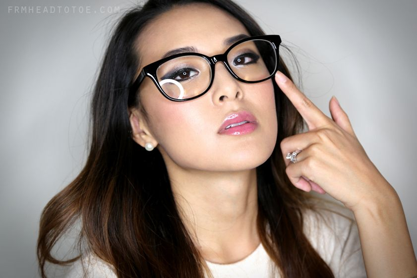 From head to toe makeup for glasses briller