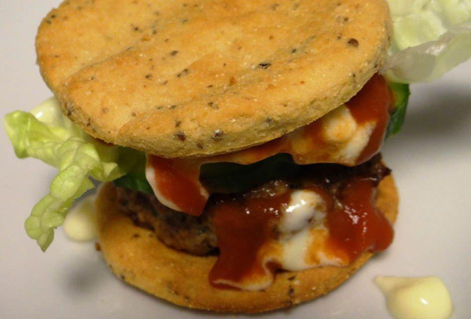 Low Carb Hamburger Brötchen