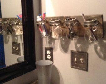 Firefly lights mason jar wall sconce on reclaimed barn by gail22