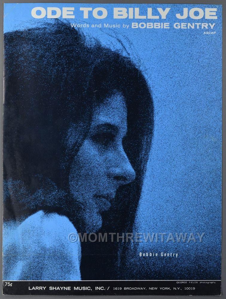 1967 Ode To Billy Joe Sheet Music Bobbie Gentry Piano
