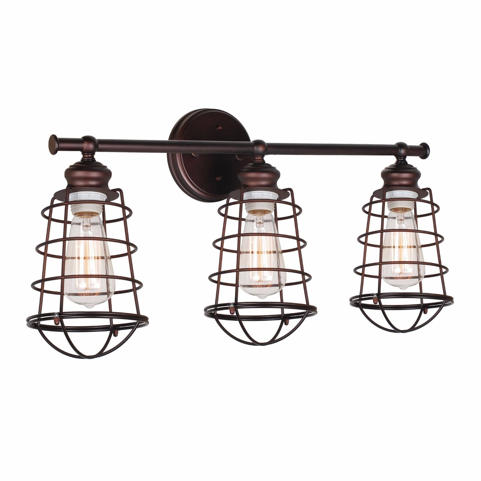 cage lights nickel light fixtures satin pin industrial and vanities vanity