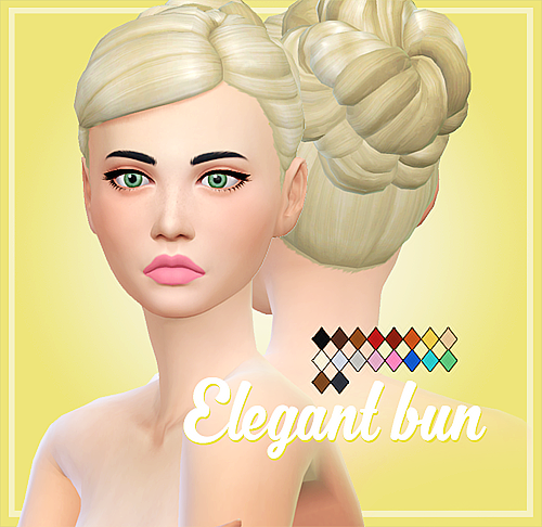 Sims 4 buns crazycupcake sims 4 clay and clayified hair - Voila institute of hair design kitchener ...