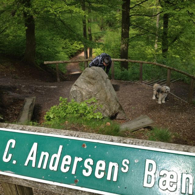 HC Andersens bænk, Himmelbjerget, Dk, 2012