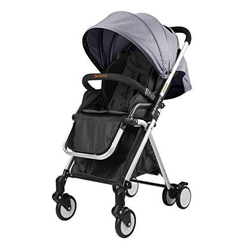Besrey BR-C7000S Lightweight Baby Stroller (Grey)