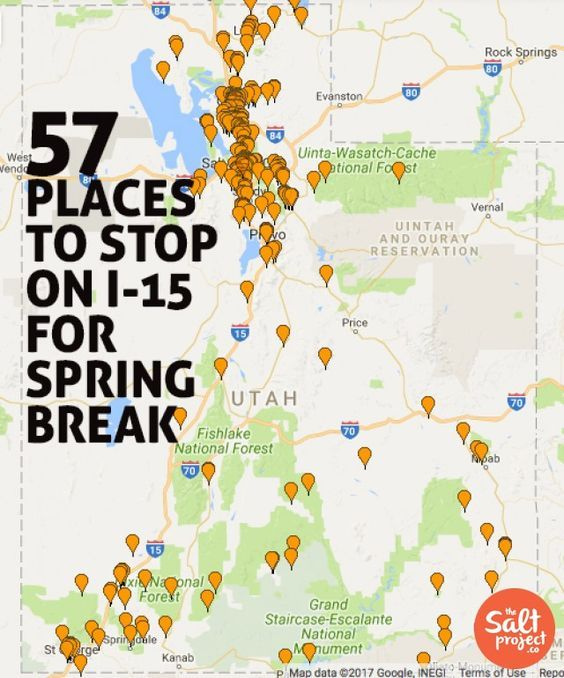 57 places to help break Up I-15   The Salt Project   Things ... on i 15 california map, i 15 idaho map, i-15 south map, i 15 mile marker map, 15 freeway map,