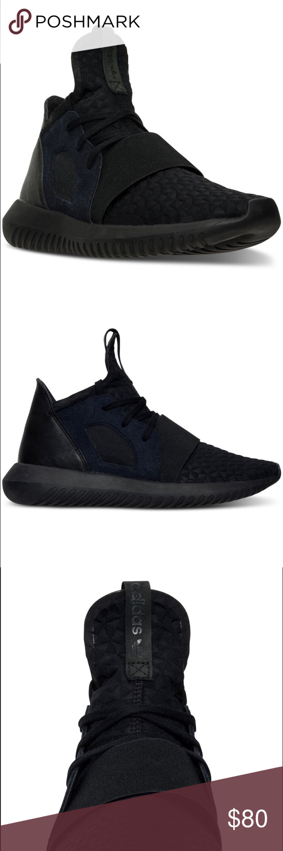 Adidas Originals Womens Tubular Defiant Selling Adidas Tubular Defiant shoes in black! These are super cute and flattering. I wore them once for like 3 hours so condition is like new. Size 7 and true to size. Adidas Shoes Athletic Shoes Adidas women shoes - http://amzn.to/2jB6Udm