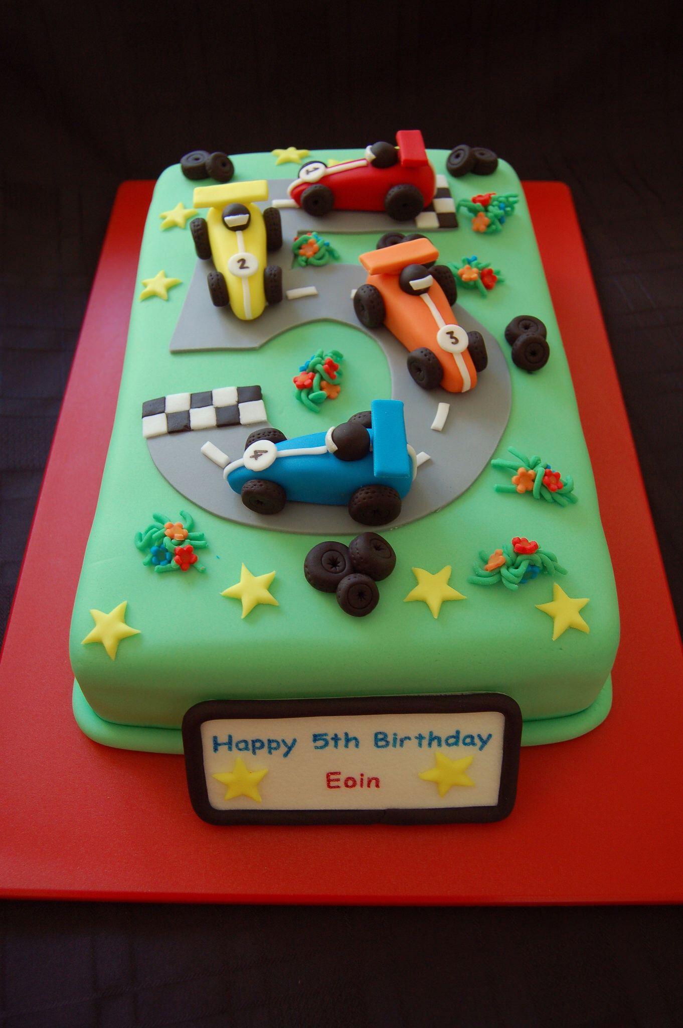 Racing Cars Birthday Cake