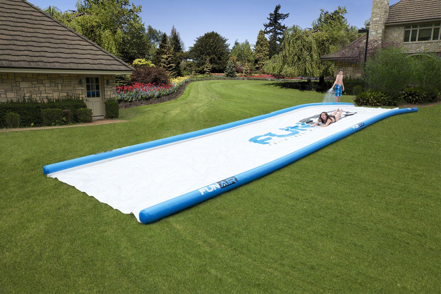 50' long water slide! Super Sweet Slide from FunAir ...