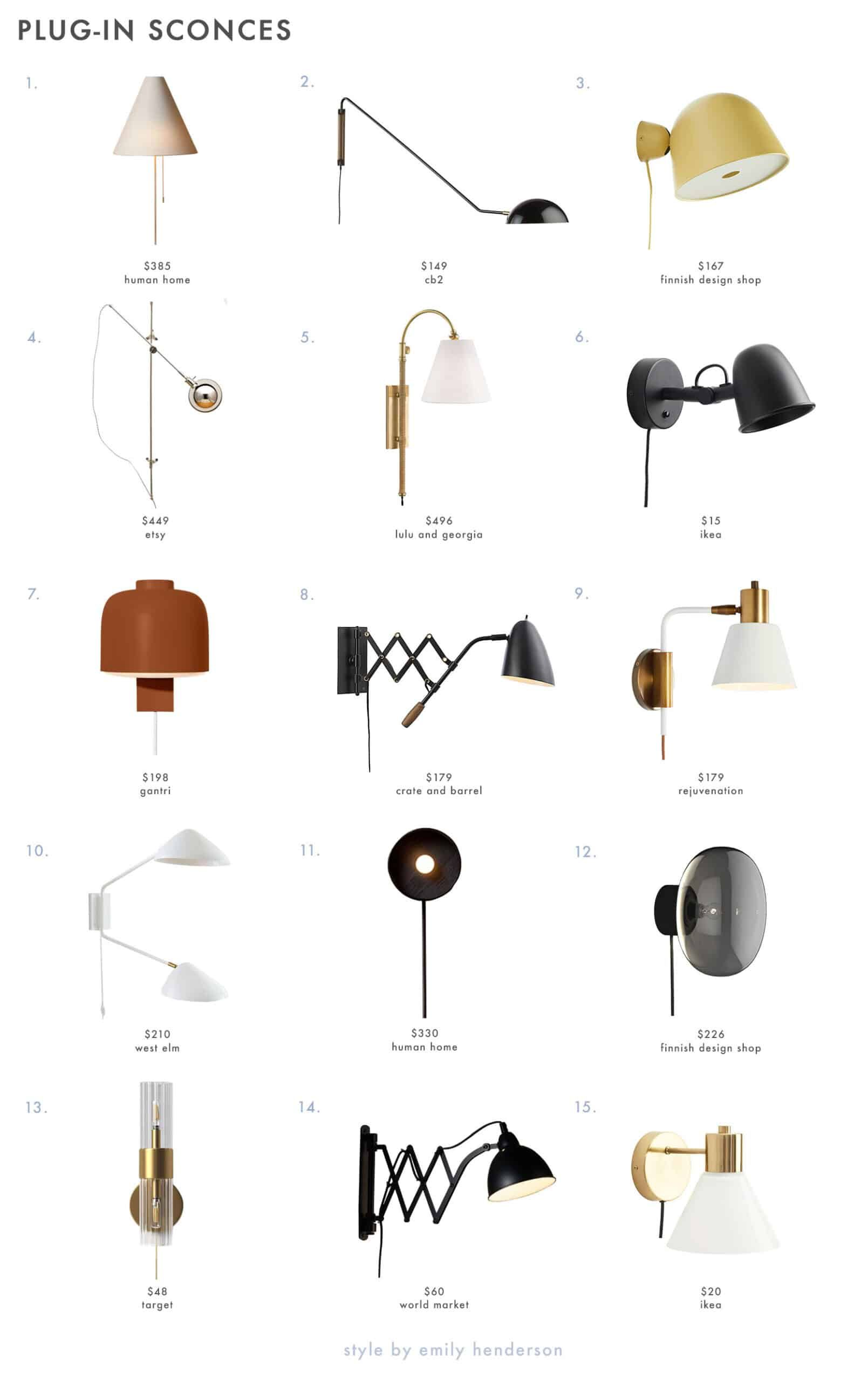 Design 101: How High To Hang Your Sconce in Every Room + 48 of Our Favorite Picks - Emily Henderson