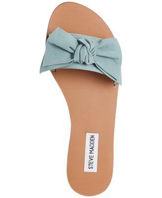 eedc82852cca1c Steve Madden Women s Knotss Bow Sandals - Gold Leather 5M