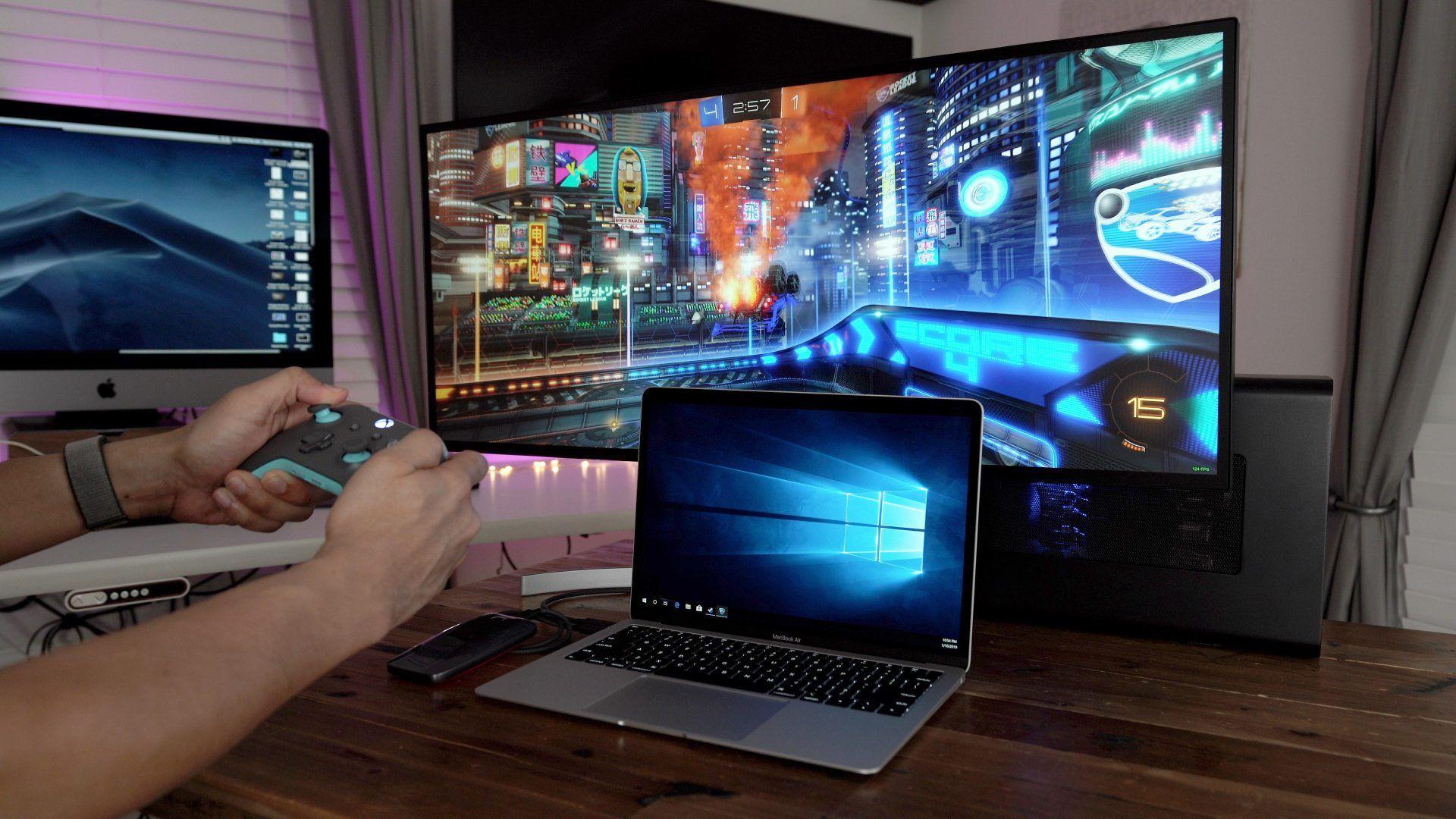 How To Macbook Air Windows 10 Rtx 2080 Egpu Gaming Setup Video Macbook Gaming Setup Macbook Air